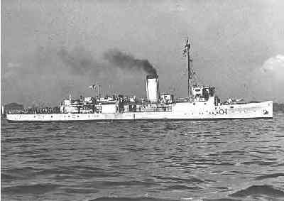 HMAS Doomba during WWII