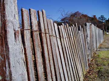 A fence at Hill End