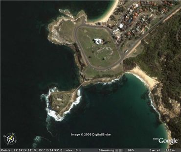Bare Island Satellite Photo