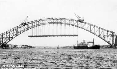 MV Malabar and Sydney Harbour Bridge