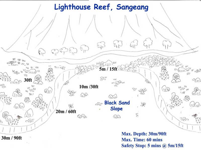 Dive Site Map
